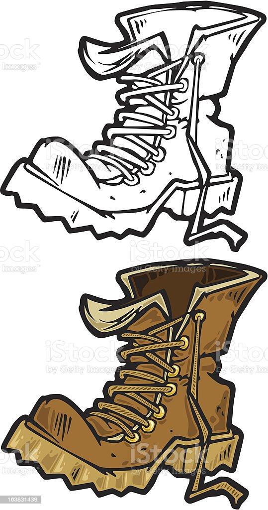 old boot vector art illustration