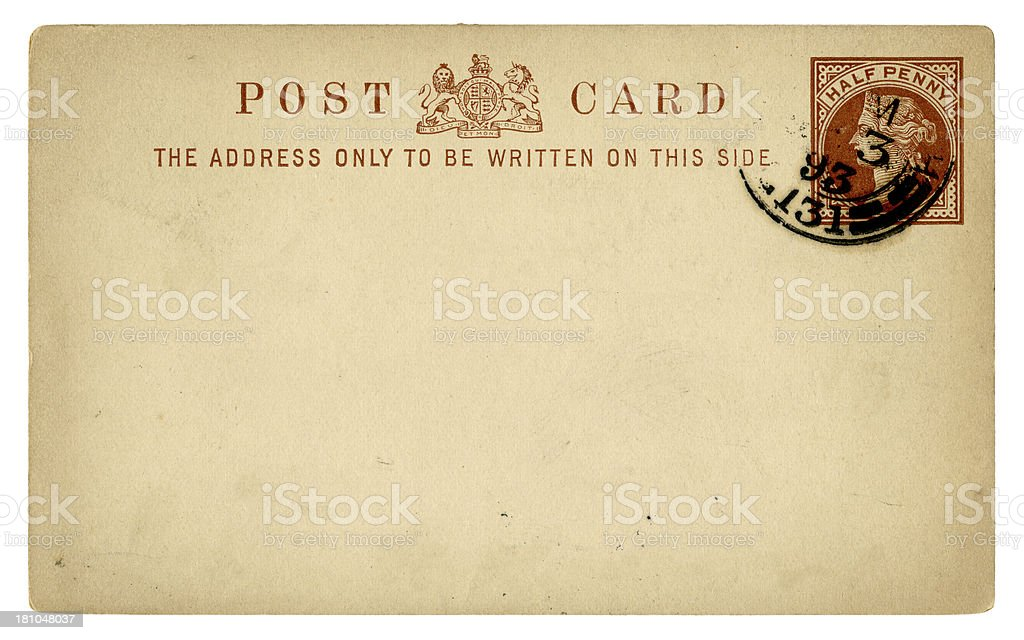 Old British postcard, 1893 royalty-free old british postcard 1893 stock vector art & more images of 1890-1899
