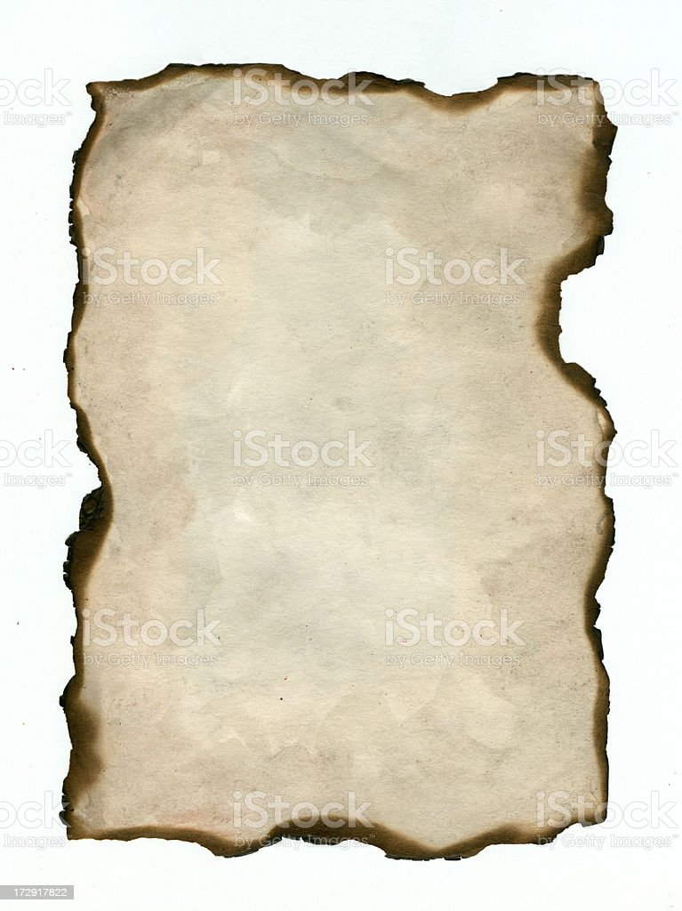 Old  burnt  paper background vector art illustration