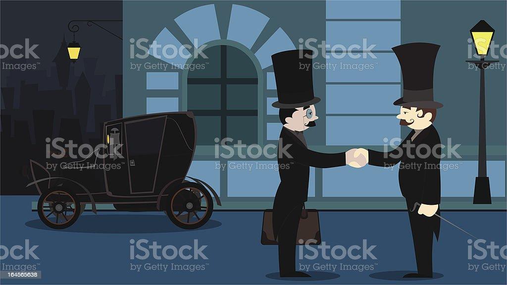 old business men.ver02 vector art illustration