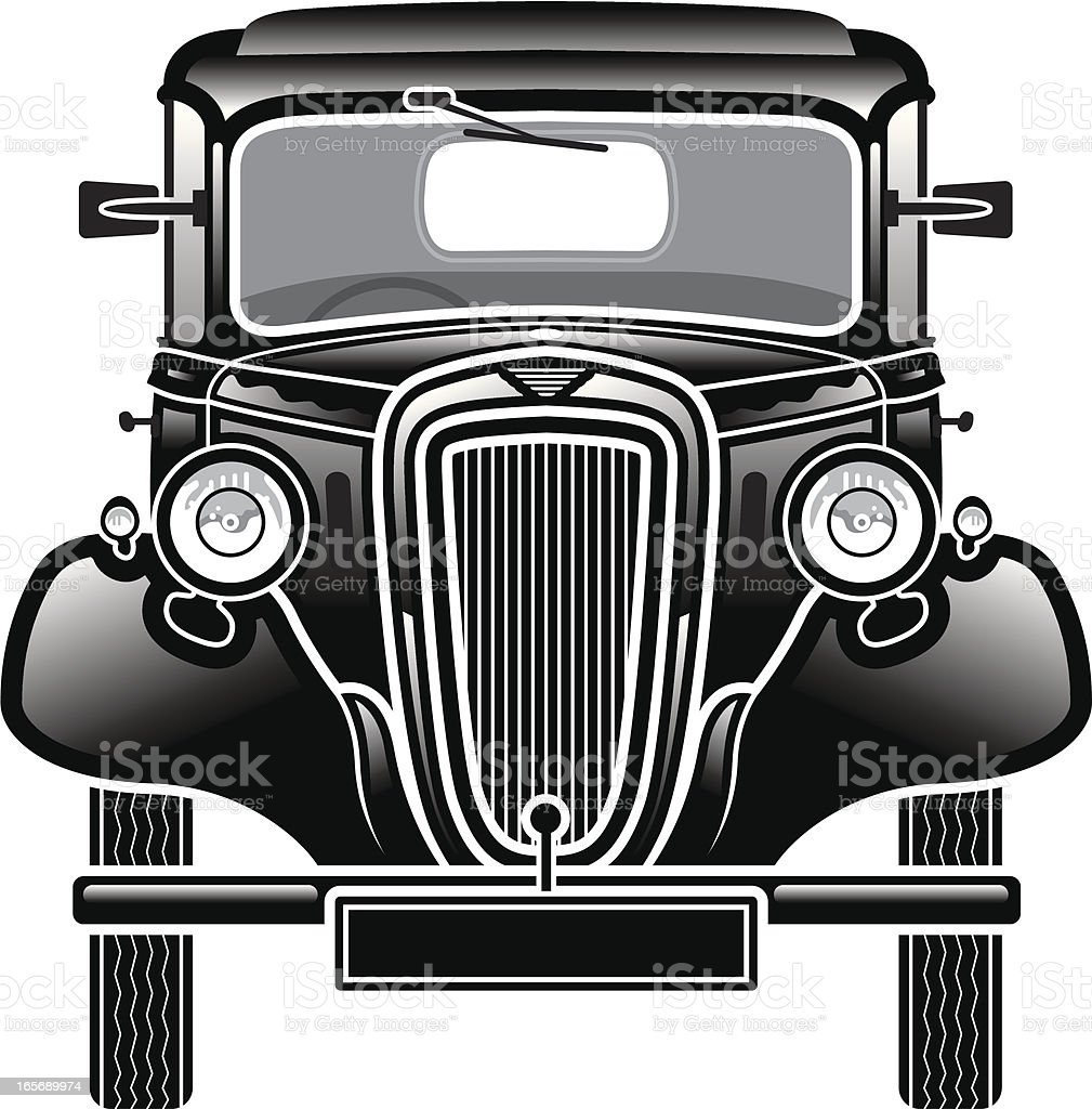 Old car front. royalty-free old car front stock vector art & more images of 1930-1939