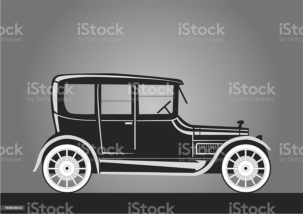 Vecchia auto Silhouette stile vittoriano - illustrazione arte vettoriale