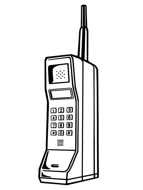 Royalty Free Vintage Cell Phone Clip Art, Vector Images ...Old Cell Phone Clip Art