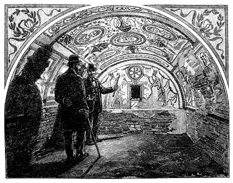 Old Christian burial chamber at Fünfkirchen (Pécs)