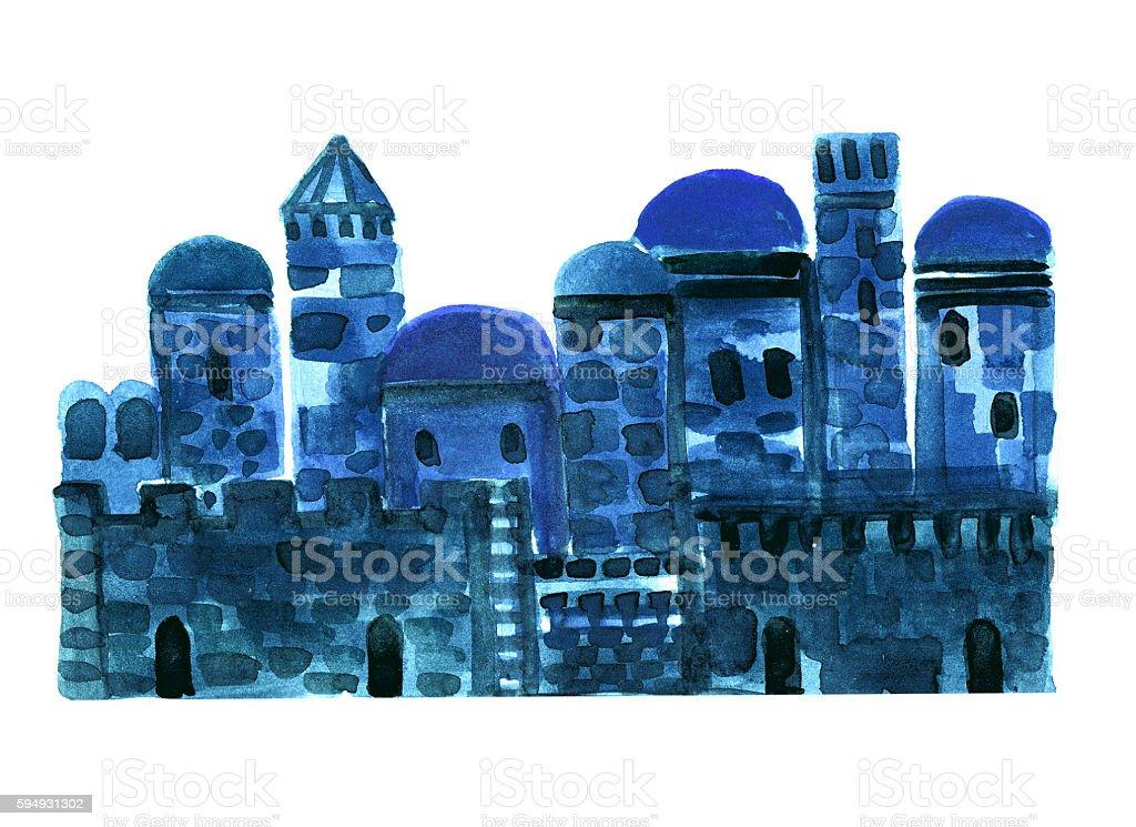 Old City, Middle East Town, Illustration,Sketch vector art illustration