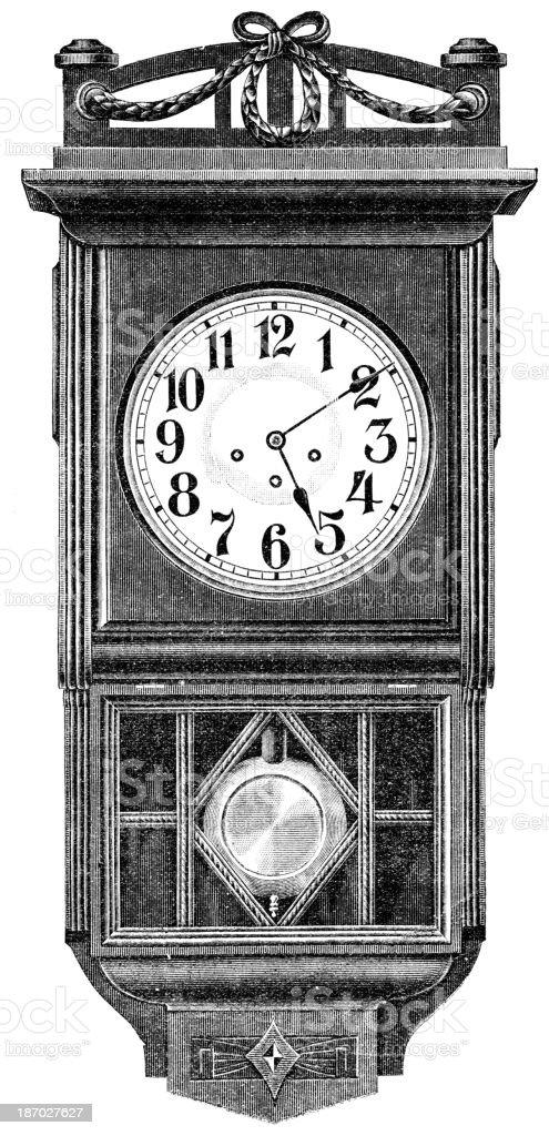 old clock vector art illustration