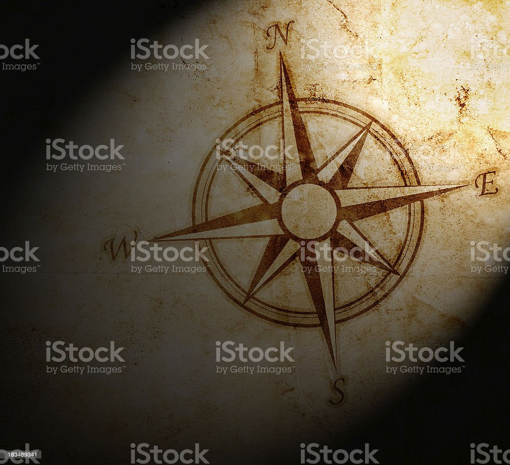 Old compass on paper background royalty-free old compass on paper background stock vector art & more images of adventure