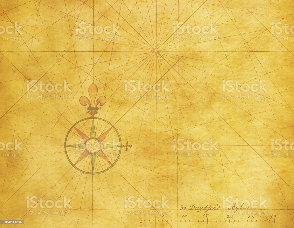 Old Compass Rose (High Resolution Image) vector art illustration