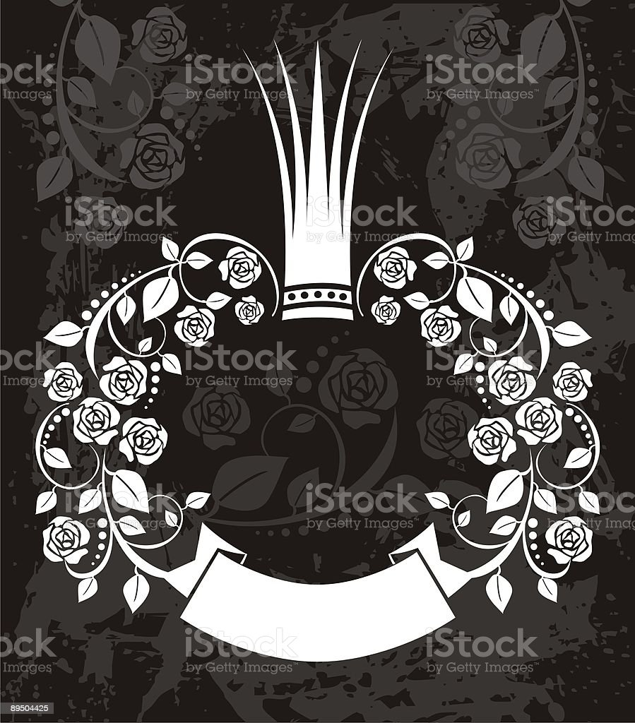 Old crowned frame royalty-free old crowned frame stock vector art & more images of art