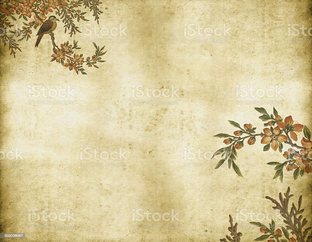 Old Dirty Chinese Wallpaper vector art illustration