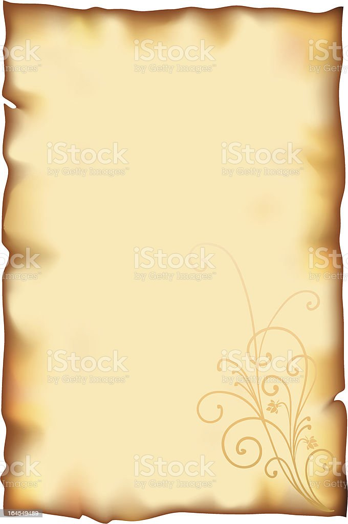 Old document vector art illustration