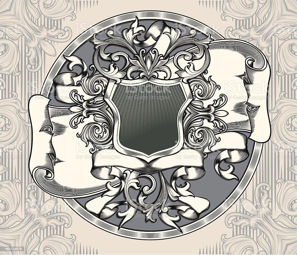 Old emblem royalty-free stock vector art