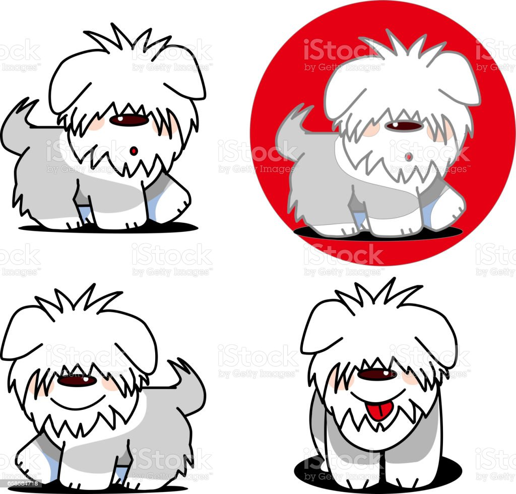 Old English Sheepdog royalty-free old english sheepdog stock vector art & more images of animal