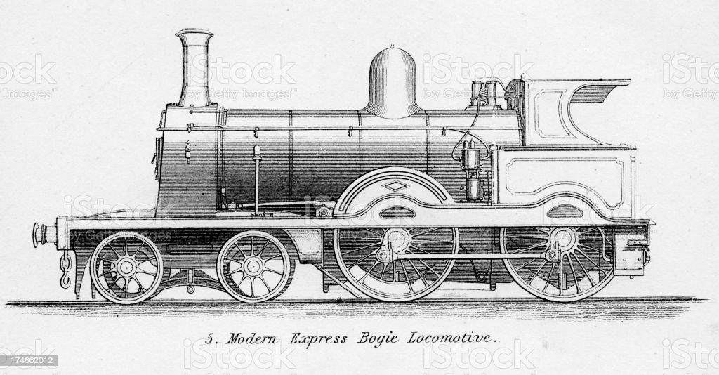 Old Fashioned Steam Train Locomotive Stock Illustration ...