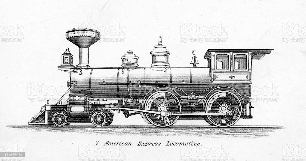Old Fashioned Steam Train Locomotive Stock Vector Art ...