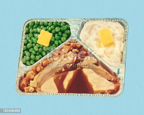 istock Old Fashioned TV Dinner 152405455