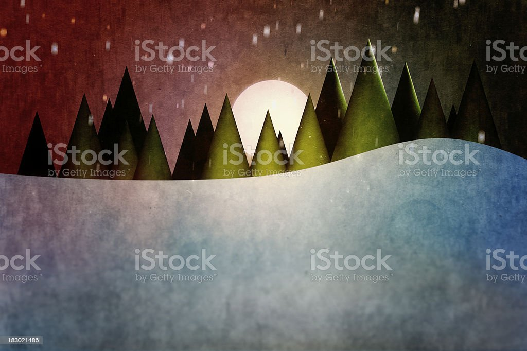 Old Fashioned Winter royalty-free stock vector art