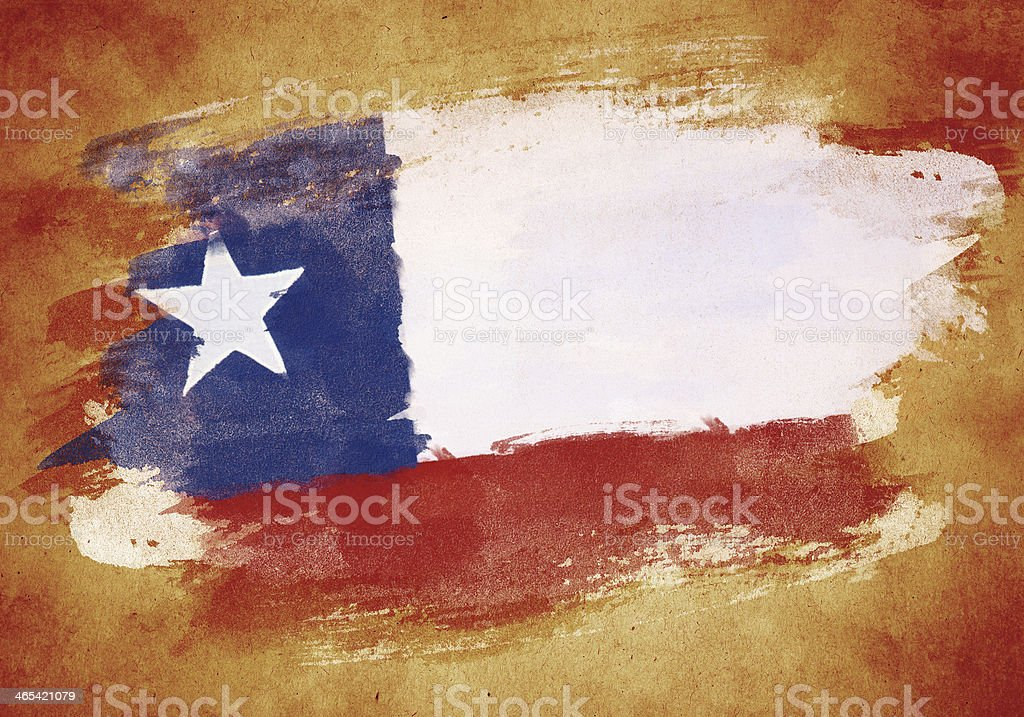 Old flag of Chile vector art illustration