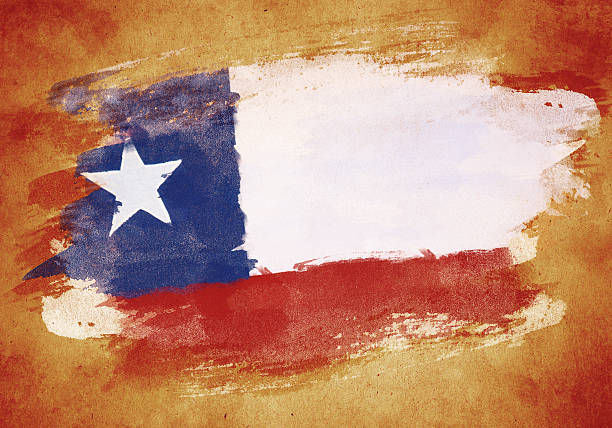 old flag of chile - chile flag stock illustrations, clip art, cartoons, & icons