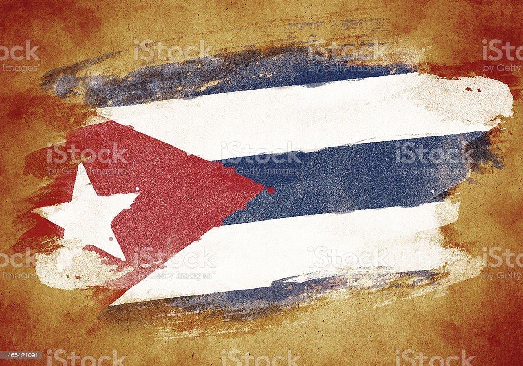 Vieja bandera de Cuba - ilustración de arte vectorial