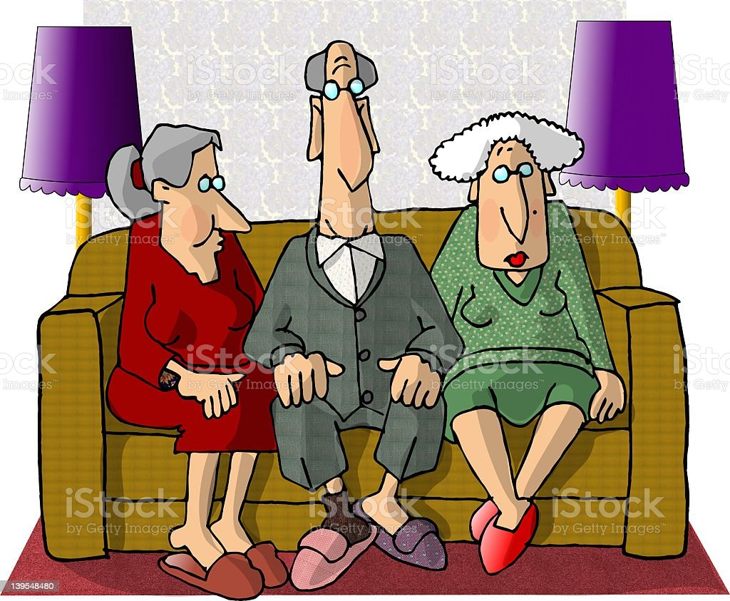 Old folks royalty-free old folks stock vector art & more images of active seniors