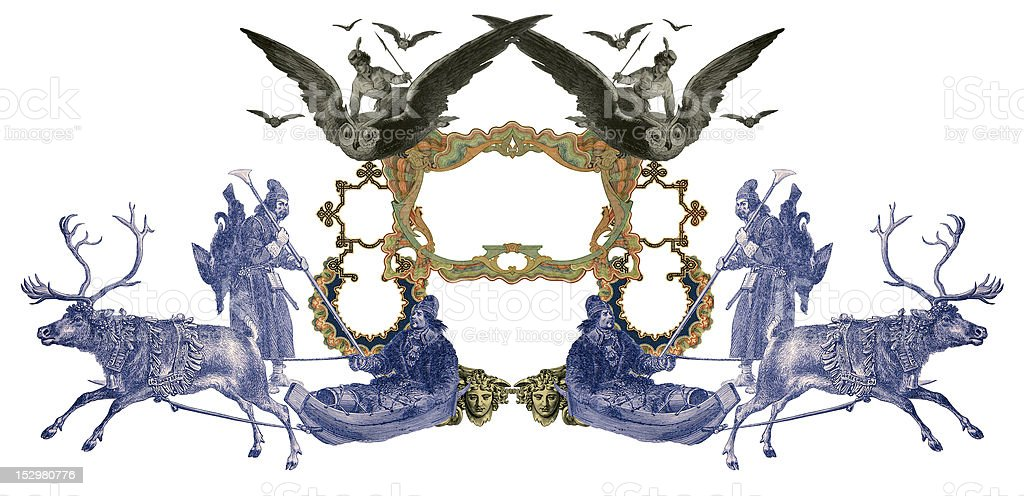 Old Frame. royalty-free stock vector art
