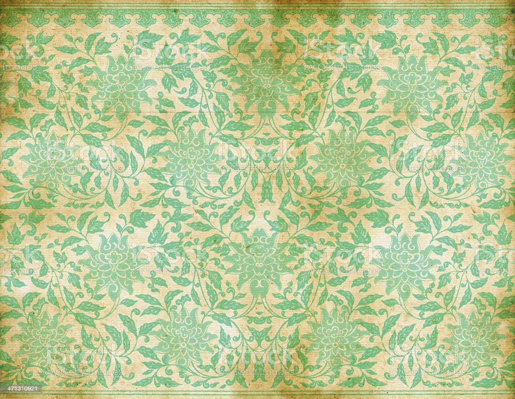 Vecchia carta da parati verde vintage immagini for Carta parati verde