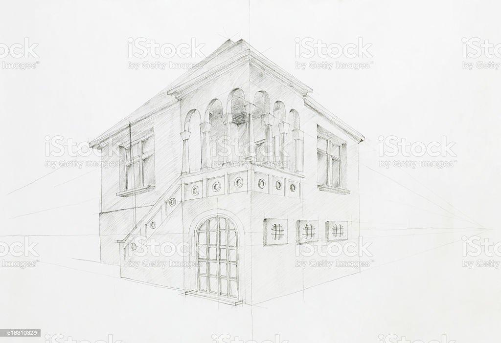 Old house blueprint stock vector art 518310329 istock old house blueprint royalty free stock vector art malvernweather Choice Image
