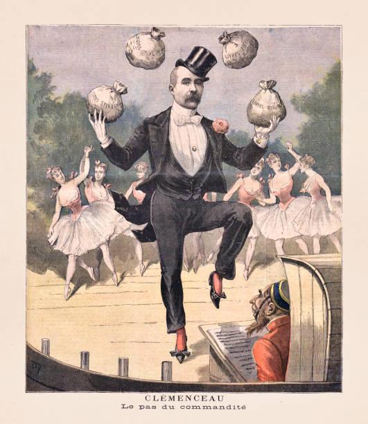 Old illustration about Georges Clémenceau vector art illustration