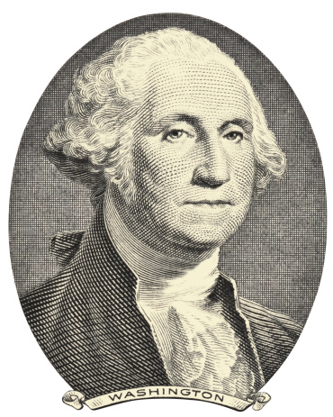 Old Image Of George Washington On A White Background向量圖形及更多一美元鈔票圖片