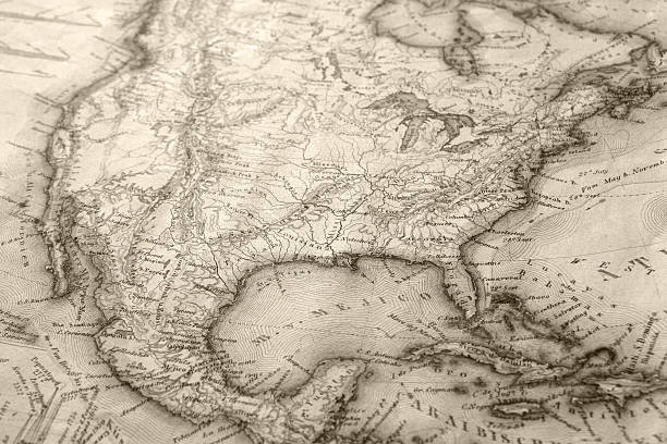 old map - 01 - vintage maps stock illustrations, clip art, cartoons, & icons
