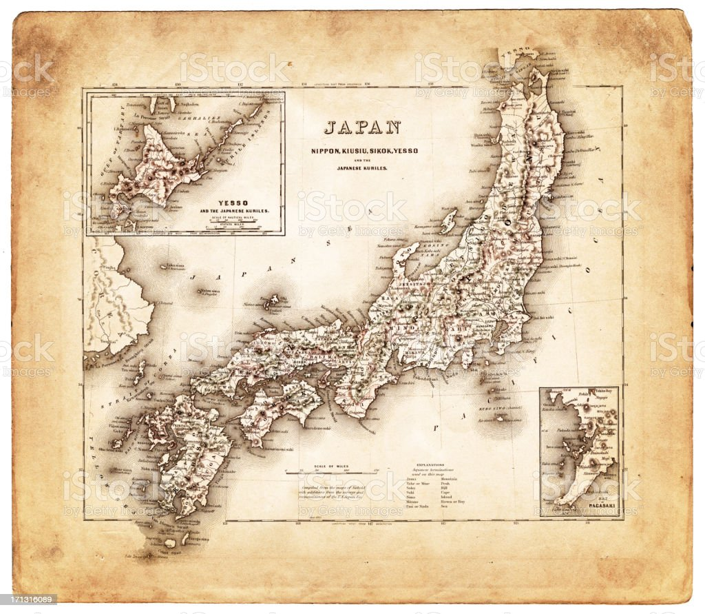 Old map from japan 1874 stock vector art 171316089 istock old map from japan 1874 royalty free stock vector art gumiabroncs Image collections