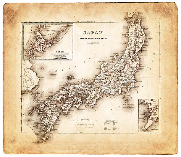 old map 日本 1874 - ビンテージの地図点のイラスト素材/クリップアート素材/マンガ素材/アイコン素材