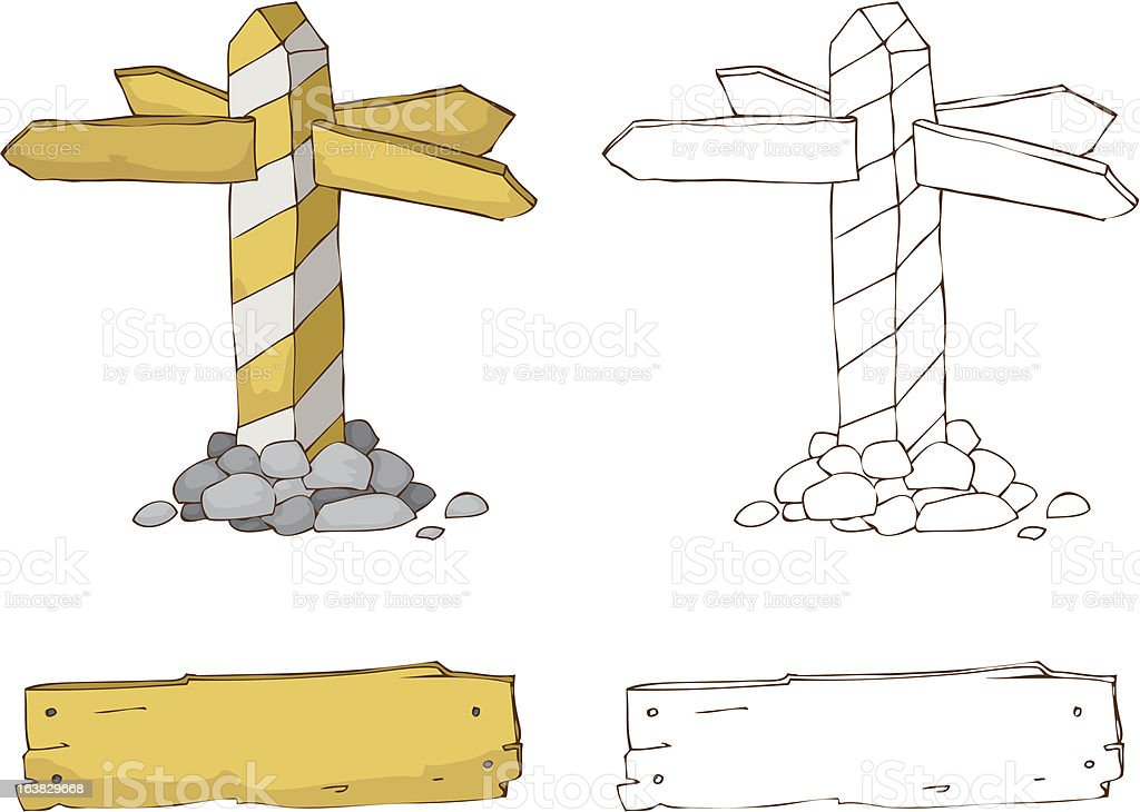 old milestone royalty-free stock vector art