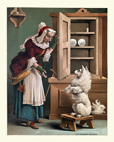 Old Mother Hubbard, The Cupboard was bare, nursery rhyme