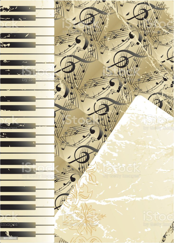 Old Musical background royalty-free stock vector art
