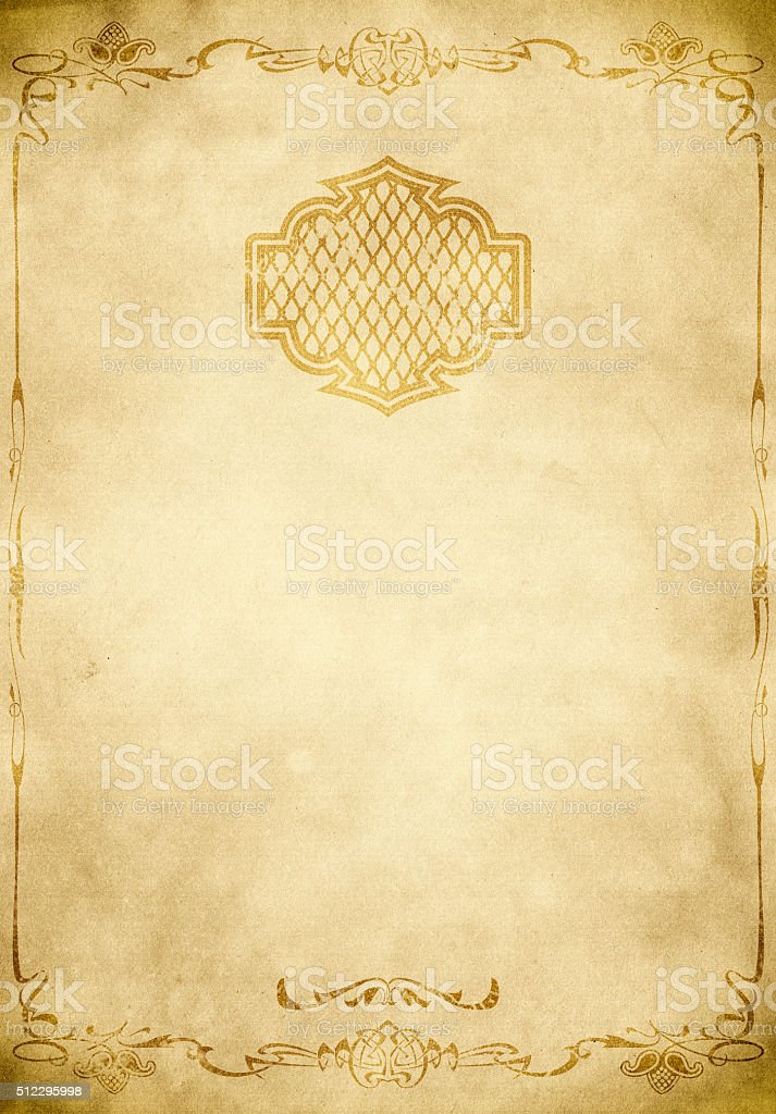 Old Paper Background With Decorative Vintage Border Royalty Free