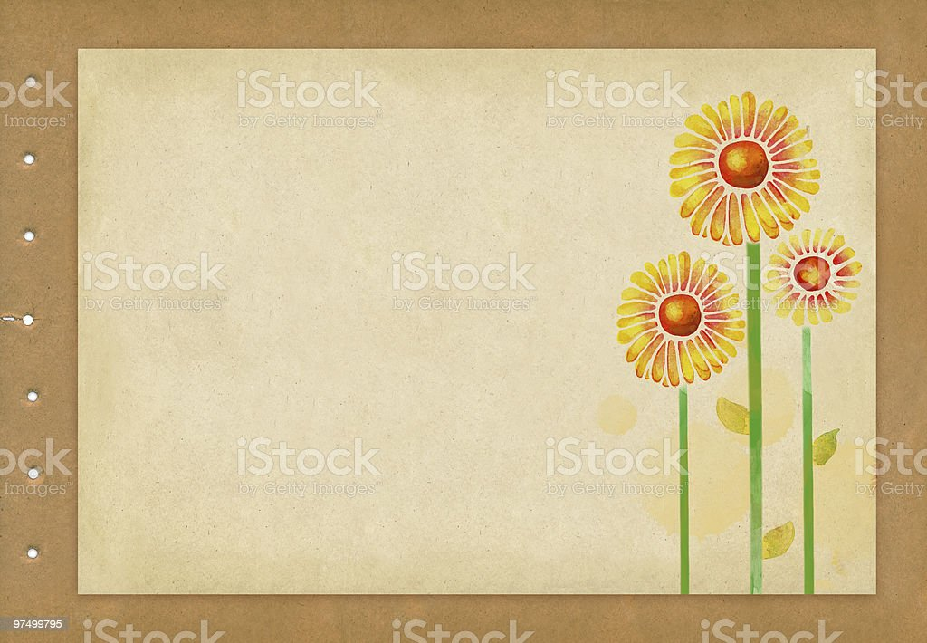 Old paper with flower royalty-free old paper with flower stock vector art & more images of ancient
