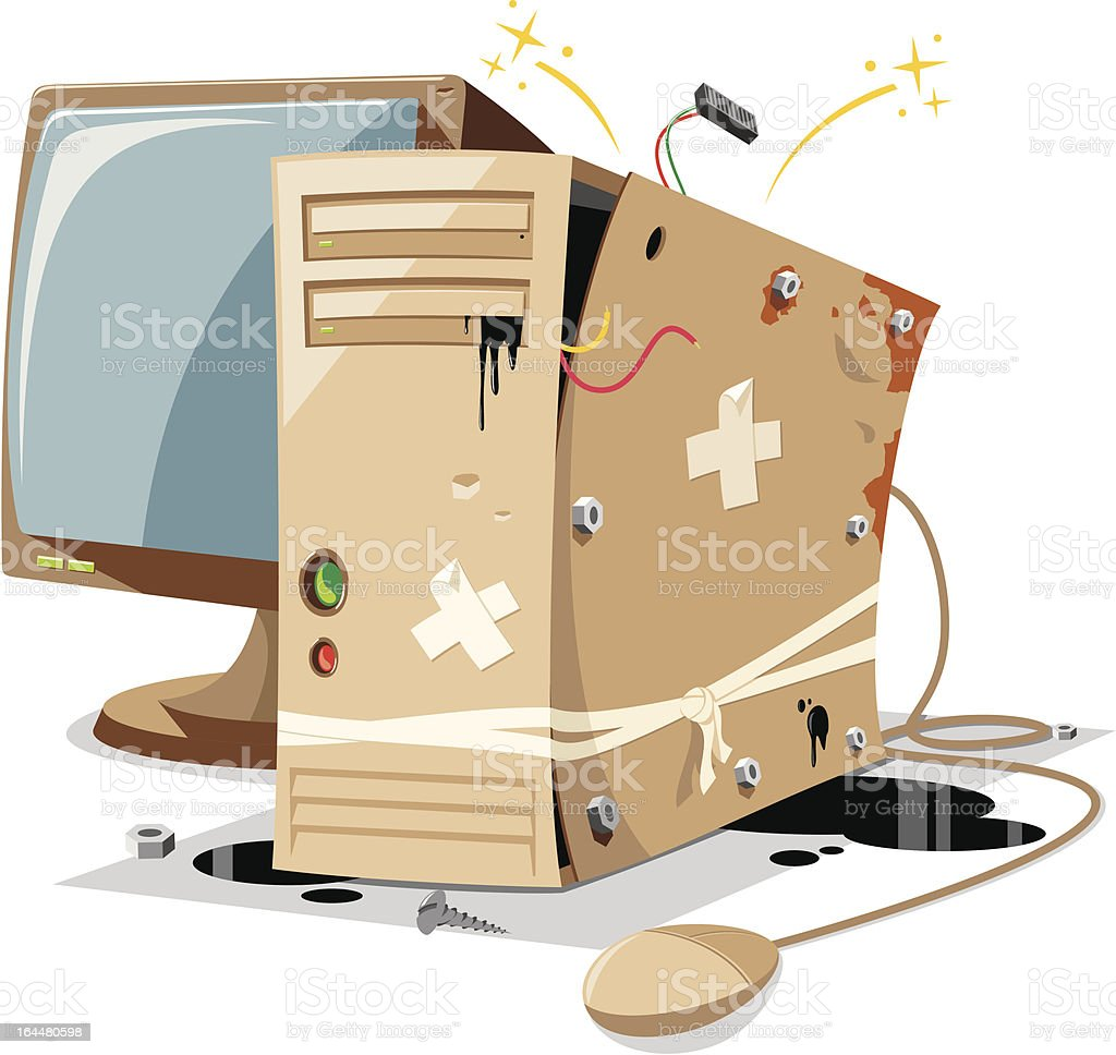 Old Pc royalty-free stock vector art