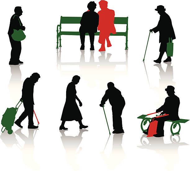 old people. part 2 - old man hats pictures stock illustrations, clip art, cartoons, & icons