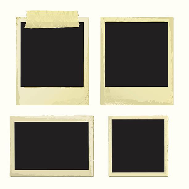 alten fotorahmen (vektor xxl jpg in einem zip-ordner - bildformate stock-grafiken, -clipart, -cartoons und -symbole