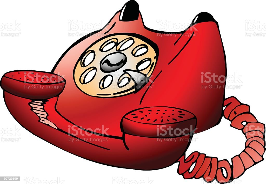 Old Red Telephone royalty-free stock vector art