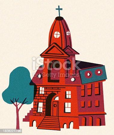 istock Old Religious School Building 1328221796