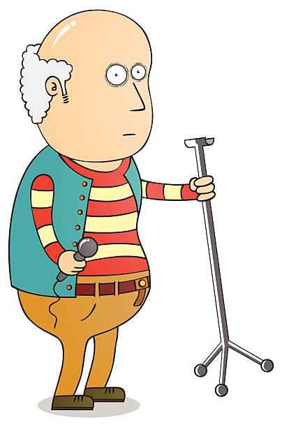 old singer - old man in rocking chair cartoons stock illustrations, clip art, cartoons, & icons
