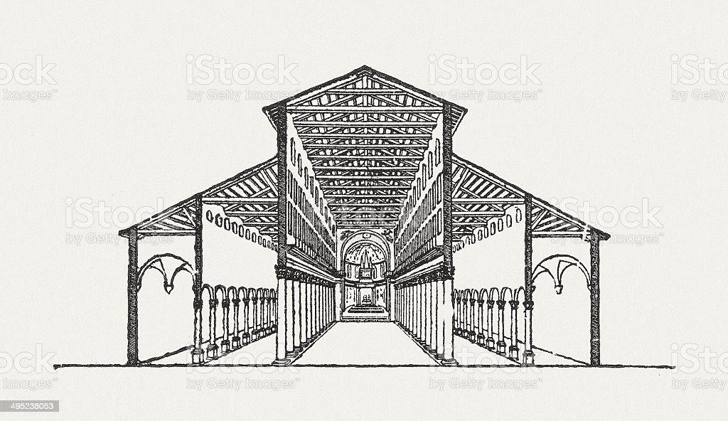 Basílica de São Pedro - ilustração de arte em vetor
