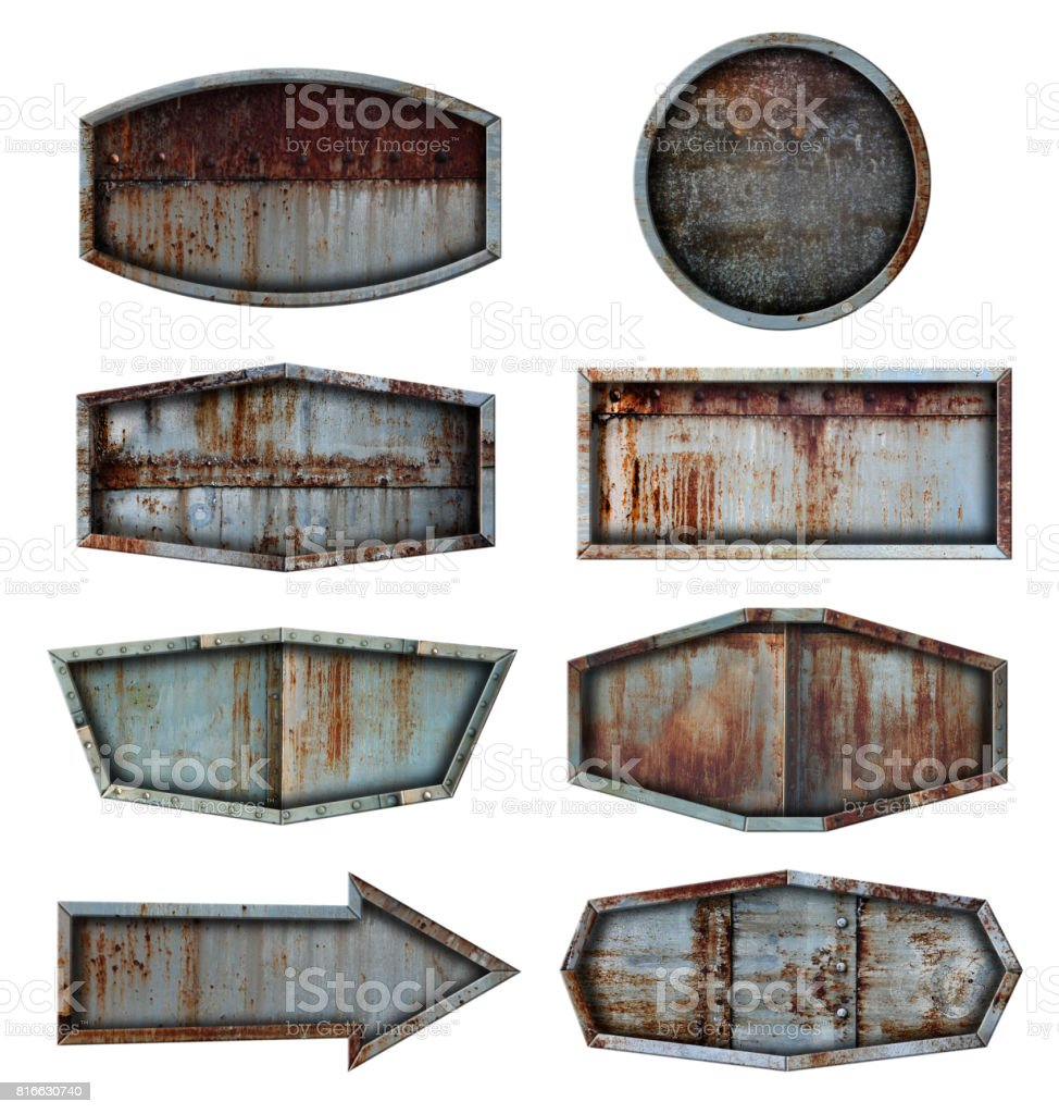 Old steel metal sign plate texture background vector art illustration