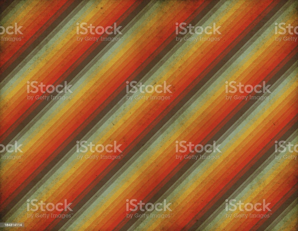 Old Striped Retro Wallpaper vector art illustration
