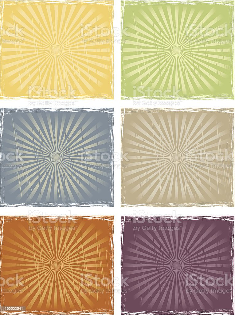 Old sunburst royalty-free stock vector art