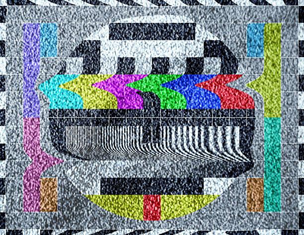 Alte TV test pattern mit statische TV-signal – Vektorgrafik