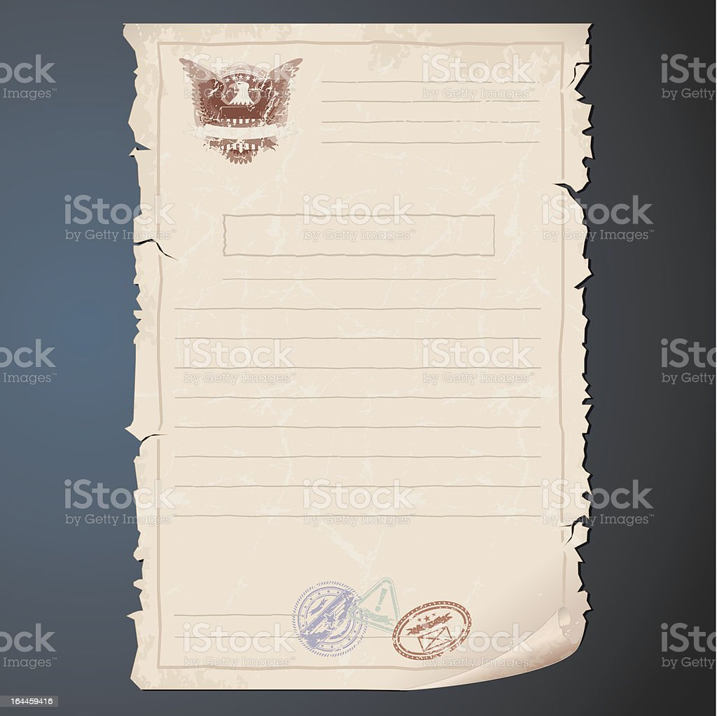 Old Top Secret Document royalty-free stock vector art
